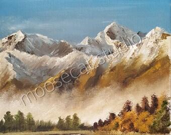 Autumn Mountains in Oil - Print