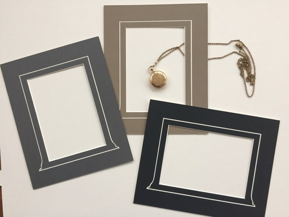 Package of 10:  8 x 10 Vintage Style Photo Mat