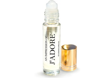 J'ADORE Type Pure Perfume Oil. Natural, Vegan, Coconut Oil Luxury Roll-On Perfume. Alcohol Free. Travel Size.