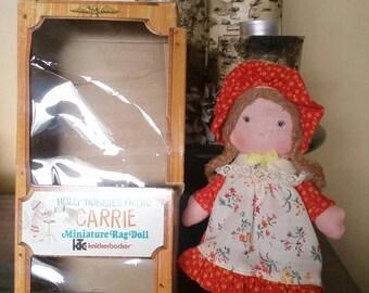 Hollie Hobbie's Friend Carrie Miniature Rag Doll Knickerbocker Co
