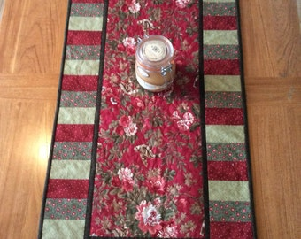 Bella Moon Holiday Table Runner, Quilted Table Runner, Country Christmas , Holiday  Decor