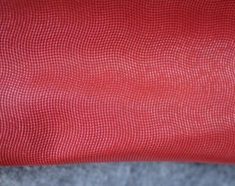 Red Natural Italian Leather  hide 7-8 sq ft 100,70 cm x 75 cm ,  Thickness: 1,1-1,2 mm b802