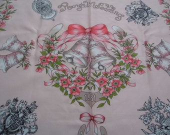 Royal wedding souvenier scarf Prince Charles and Lady Diana Spencer 1981