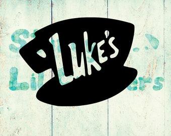Luke's Diner - Coffee Cup Sign - Gilmore Girls - Stars Hallow - Luke Danes - Vinyl Car Decal - Bumper Sticker - Laptop Decal - Mug Decal