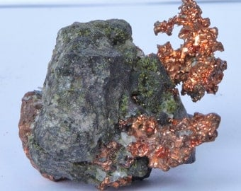 Native copper on matrix  from the USA
