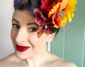 Vintage inspired Burlesque 40's 50's Pin Up Tropical Rockabilly Hair Flower