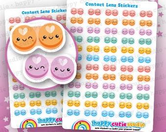60 Cute Contact Lens Planner Stickers, Filofax, Erin Condren, Happy Planner,  Kawaii, Cute Sticker, UK