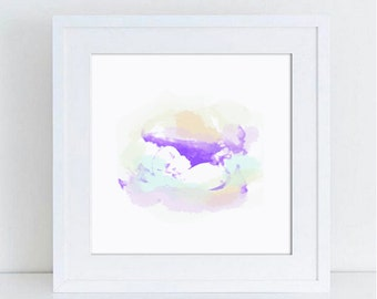 Baby Scan Ultrasound Watercolour Effect Personalised Keepsake Print or Frame