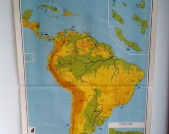 Large Continental Map - Big Country Chart - World Map - Detailed America - America Chart - South America on Chart