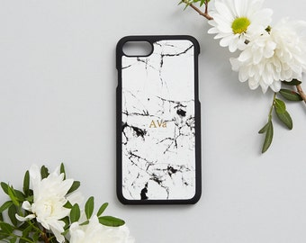 SALE!! Marble Leather Phone Case iPhone 7 Cover - White