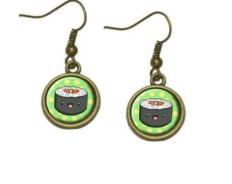 Cute Sushi Dangle Dangling Drop Earrings