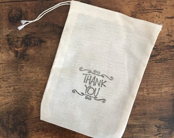 Thank you party or wedding favor bags - set of 5