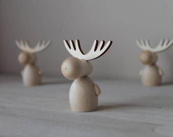 Moose / Montessori baby toys/ educational toys