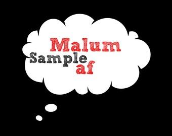 """5 Seconds of Summer, 5SOS Poster Insant Download, Home Printable Digital Download, """"Malum af"""""""