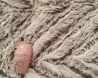 Rose Quatz Crystal/Gem/Mineral Necklace - Handmade!
