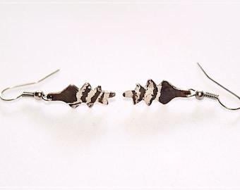 Mokume gane earrings