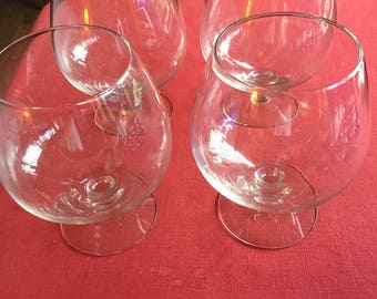 "Brandy Glasses, new, never used 4 Glasses, 6"" tall"