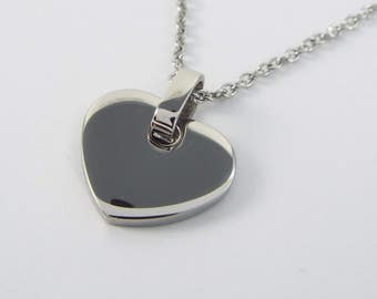 Heart Pendant chain Stainless steel