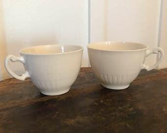 Vintage Syracuse China Shelledge Tea Cups Set of 2