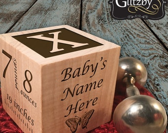 Personalized Baby Block New Baby Gift Newborn Baby Gift Personalized Baby Gift Newborn Gift Wooden Baby Block Nursery Decor Gift for Twins