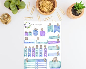 FUN07 - Llama Functional Planner Stickers