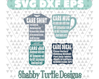Care Cards SVG DXF EPS