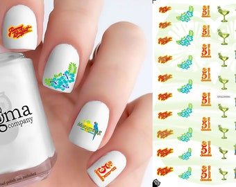 Jimmy Buffett Nail Decals (Set of 52)