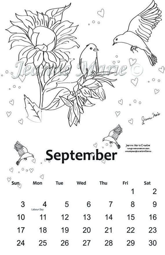 september printable coloring pages - photo#24