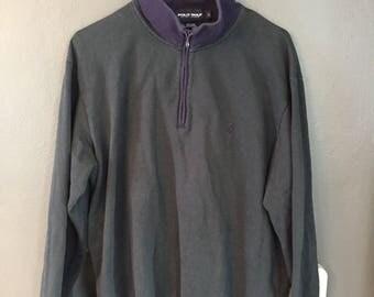 Polo Golf Pullover Sweatshirt Quarter Zip Vintage 90s