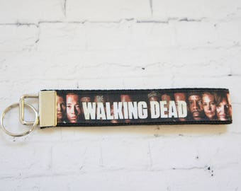 Walking Dead  key Fob, wristlet keychain, teen key FOB, TV series, Zombies lovers, Key FOB, Keychain, Key Holder, Gift for men, Zombie