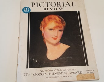 1930 Pictorial Review January Magazine