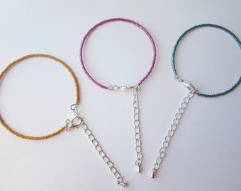 Bracelet Miyuki beads minimalist, gift, young girls, women gift, minimalist jewelry with Japanese beads, beads bracelet glass
