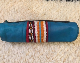 Moroccan leather pencil case