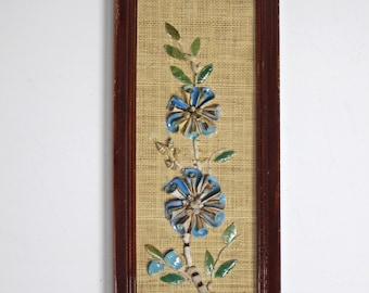 Vintage Seashell Flowers Mosaic