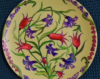 "Decorative plate ""Cornflowers"""