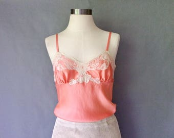 20% off using coupon! vintage silk lace camisole women's size S/M