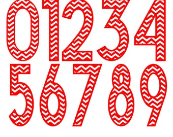 Chevron  Numbers svg eps dxf png Cut file for Silhouette or Circuit