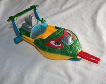 Vintage TMNT Raph's Sewer Speedboat action figure vehicle 1991 Playmates Teenage Mutant Ninja Turtles