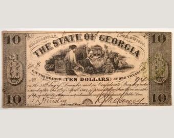 1864 Georgia Currency – Civil War