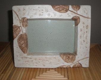 Picture Frame Tabletop Leaf Motif Unique Vintage