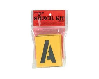"Reusable Stencil Lettering Kit 3"""
