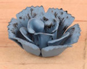 12 Blue Metal Flowers