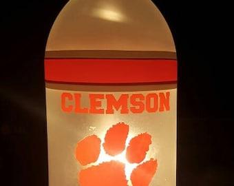 Westrick Paper NCAA Clemson Tigers Bottle Bag with Belt Loop and Clip