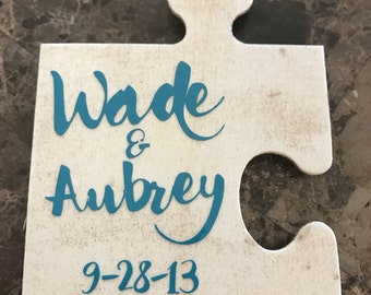 Couple puzzle piece