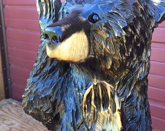 Bear Chainsaw Carving - Free shipping