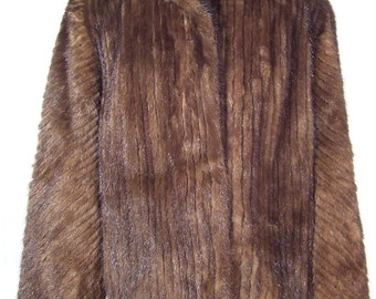 Vintage Estate Genuine Brown Saga Mink Jacket