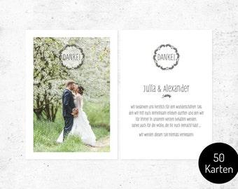 Thank you cards / wedding no.. 1