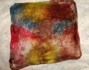 Hand-painted silk Hankie 'Fiorino'