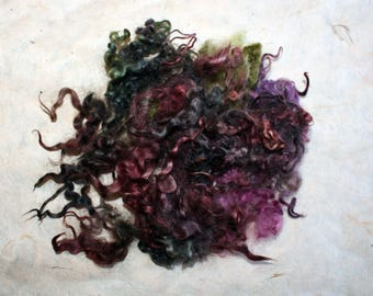 Hand-dyed Wensleydale locks 'Pruni'