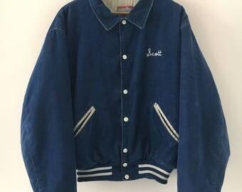 Karibu Jacket Vintage 90s Baseball Style Size M